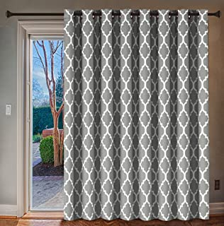 H.VERSAILTEX Blackout Printed Curtain Extra Wide Thermal Insulated Panel - Grommet Wider Window Drape, Large Size 100