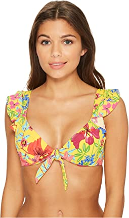 Bleu Rod Beattie - Magic Garden Ruffle OTS Bikini Top