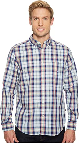 Nautica - Long Sleeve Large Leno Plaid Shirt