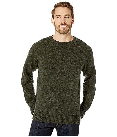 Pendleton Shetland Crew Sweater (Dark Army Green) Men