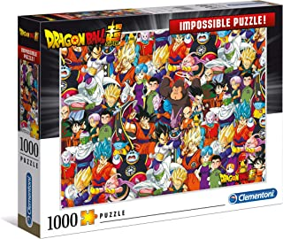 Clementoni 39489 39489-Impossible Puzzle-Dragon Ball-1000 Pieces, Multi-Coloured
