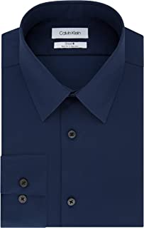 Calvin Klein Men's Dress Shirt Slim Fit Non Iron Solid,...