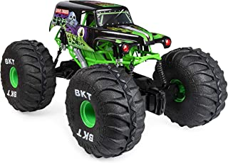 Monster Jam 6046198 Official Mega Grave Digger All-Terrain Remote Control Monster Truck with Lights, 1:6 Scale, Multicolour