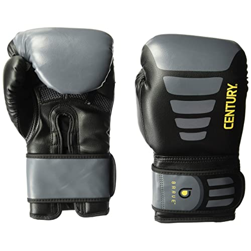 Black//Gray Century Brave Hook and Loop Boxing Oversized Bag Gloves