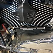 Krator Black Big Twin Horn Cover Stock Cowbell Horns For 2004-2007 Harley Davidson Motorcycles
