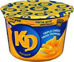 Kraft Dinner Snack Cups Three Cheese Macaroni & Cheese 58g (Pack of 10)