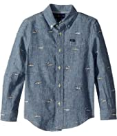 Polo Ralph Lauren Kids Linen-Cotton Chambray Shirt (Little Kids/Big Kids)