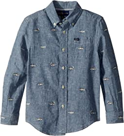 Polo Ralph Lauren Kids - Linen-Cotton Chambray Shirt (Little Kids/Big Kids)