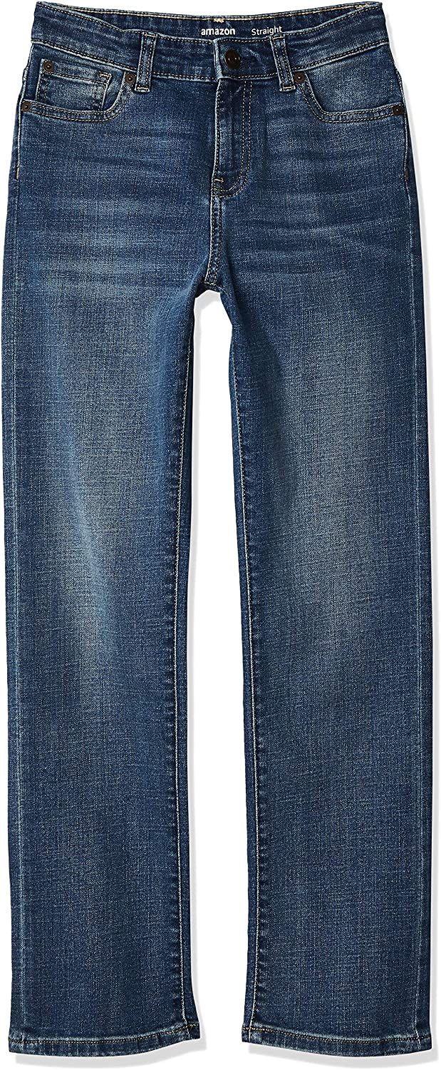 Amazon Essentials lowest price Branded goods Boys' Jeans Stretch Straight-fit