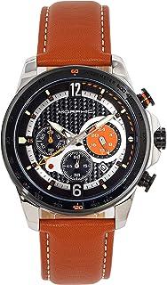 Morphic - M88 Series Reloj cronógrafo con correa de cuero con fecha