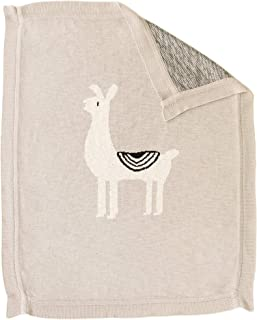 Linen Perch Luxury Llama Nursery Baby Blanket - Newborn Baby Shower Gift for Boy or Girl in Deluxe Gift Box – Unisex Cotton Llama Baby or Toddler Décor Blanket – 40 inches x 32 inches (Natural)