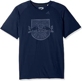 MLS New York Red Bulls Adult Men Full Time Ulimate S/Tee, Large, Collegiate Navy