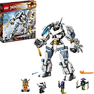 LEGO 71738 NINJAGO Legacy Zane's Titan Mech Battle Ninja Building Set with Jay Golden Figure and 2 Ghost Warriors