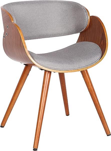 Porthos Home Aurelia Upholstered Side Seat Grey