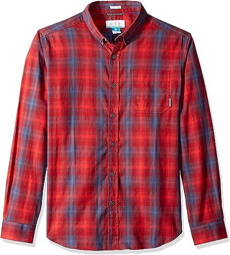Columbia Hommes's Cooper Lake manche longue Shirt, rouge EleHommest Plaid, XL