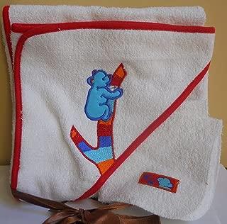 Banana Hannah Infant Hooded Towel and Washcloth Set – Bear