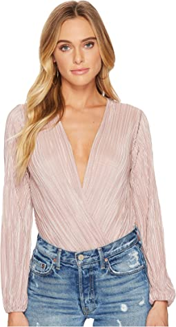 ASTR the Label - Pleated Deep V Bodysuit