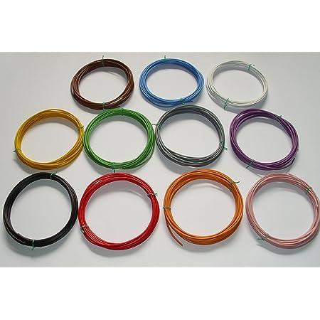 Auprotec Fahrzeugleitung 0 75 Mm Set 9 Farben à 10m Flry B Als Ring Auto