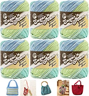 Lily Sugar n' Cream 6 Pack Bundle Country Stripes and 5 Lily Patterns