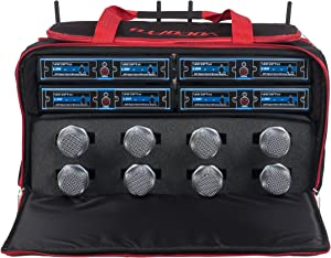 VOCOPRO UDH-CHOIR-8-MIB Eight Channel Wireless Handheld Microphone System In A Bag