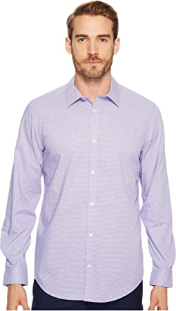 Calvin Klein Long Sleeve Infinite Cool Button Down Mini Check Shirt