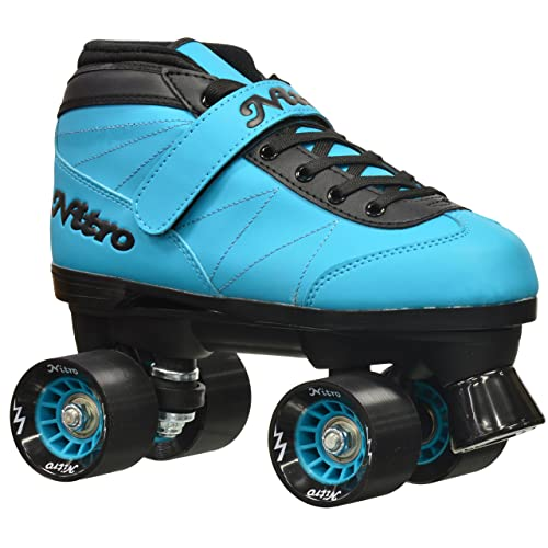 Epic Skates 2016 Epic Nitro Turbo 1 Indoor/Outdoor Quad Speed Roller Skates, Blue