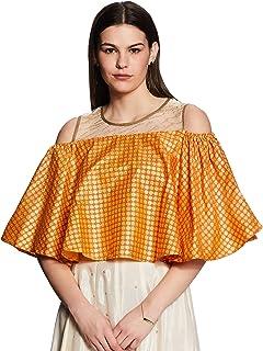 Akkriti By Pantaloons Women's Synthetic a-line Kurta