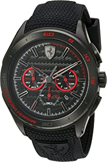 Scuderia Ferrari Men's Quartz Stainless Steel and Silicone Casual Watch%カンマ% Color:Black (Model: 830344)