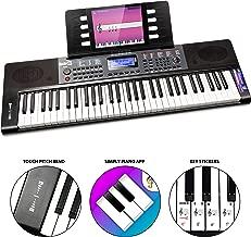 RockJam, 61 Key RJ461 61-Key Portable Electric Keyboard Power Supply, Sheet Music Stand and Pitch Bend, 61 Key (