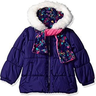 Girls' Toddler Winter Coat with Hat & Scarf