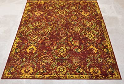 """Nourison Timeless (TML05) Pomeg Rectangle Area Rug, 7-Feet 9-Inches by 9-Feet 9-Inches (7'9"""" x 9'9"""")"""