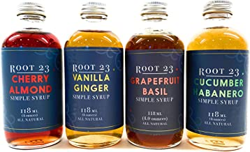 ROOT 23 Happy Hour Cocktail Mixer Set I 4 oz bottles (4-Pack) I Assorted Flavors