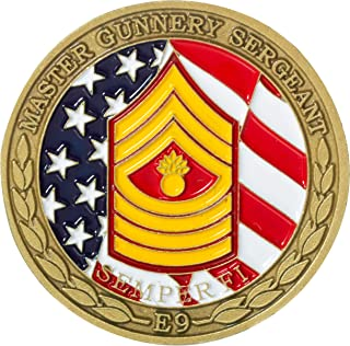 United States Marine Corps Master Gunnery Sergeant Non-Commissioned Officer Rank Challenge Coin