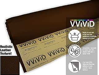 VViViD Dark Brown Adhesive Weatherproof Faux Leather Marine Vinyl (1.49ft x 54