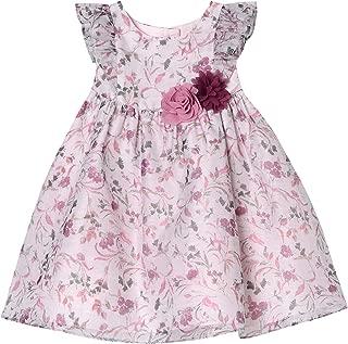 Pastourelle Baby-Girls' Flutter Sleeve Organza Dress
