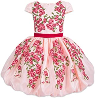 Disney Belle Fancy Dress for Girls - Beauty and The Beast Multi