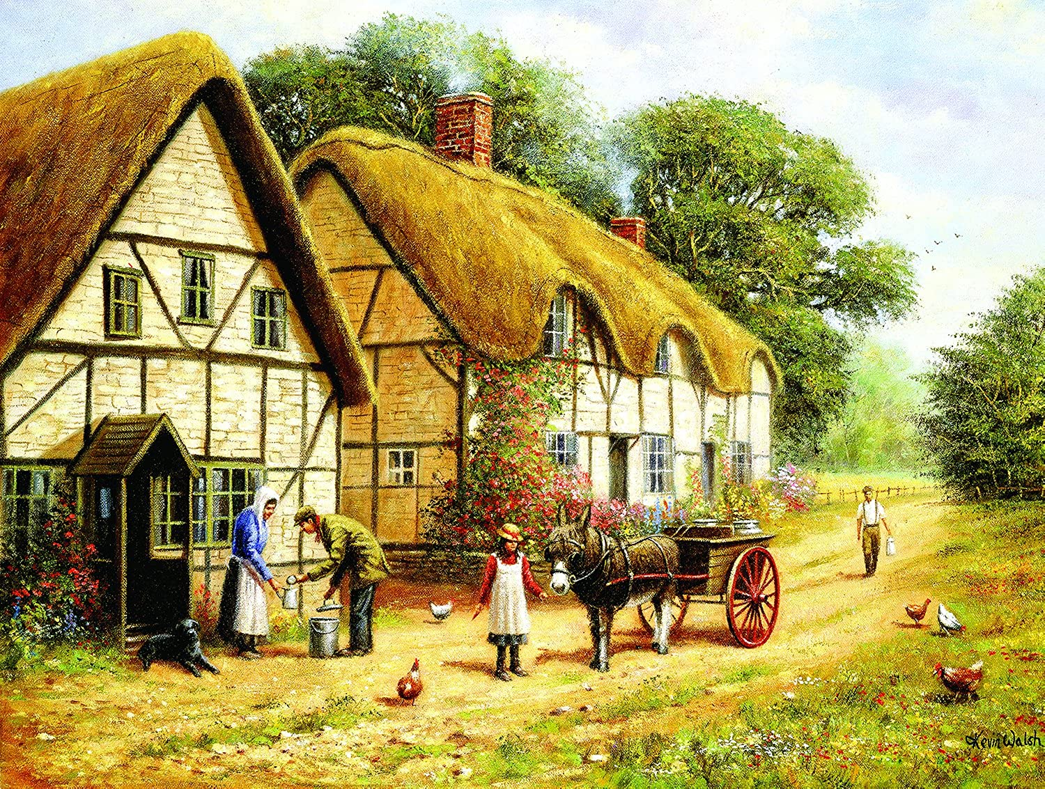 SunsOut 13649  Walsh  Delivering the Milk  500 pieces jigsaw puzzle