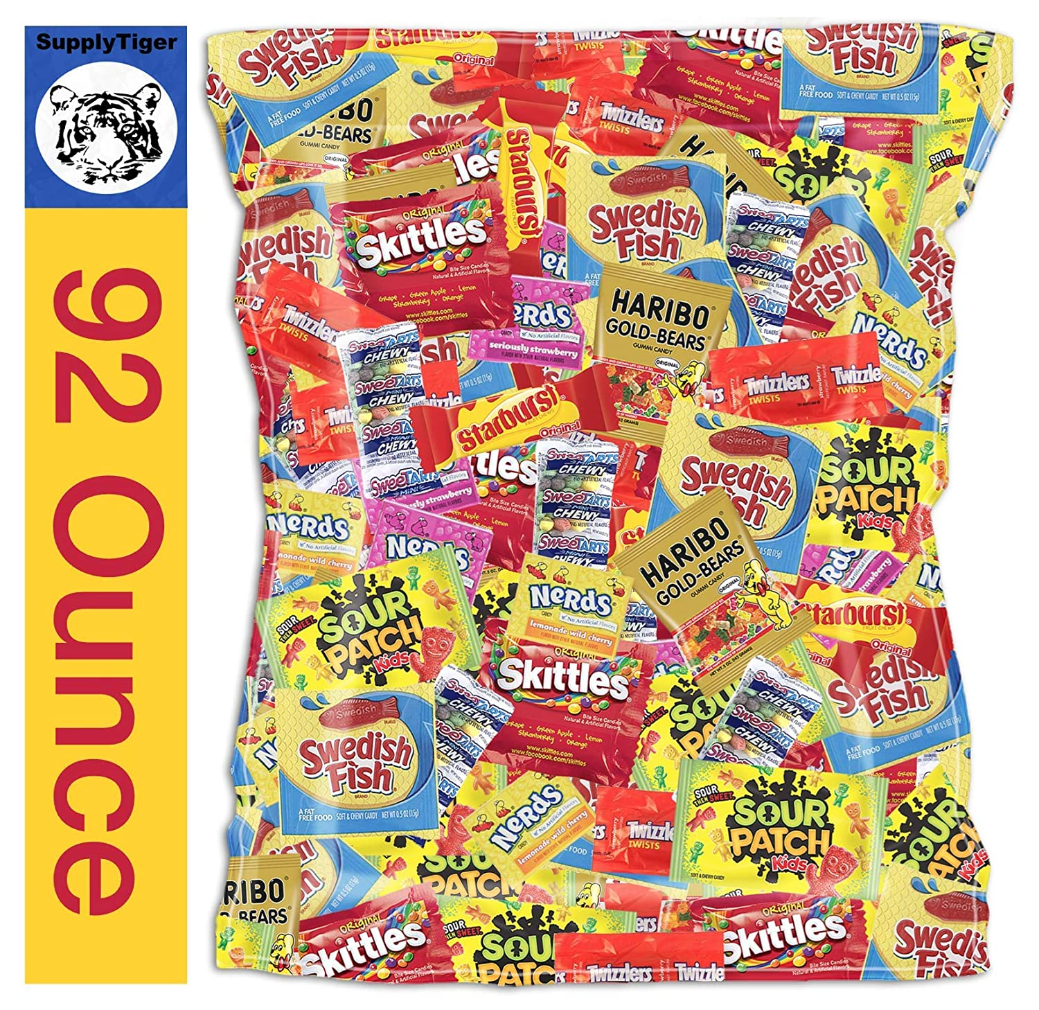 Bundle with Kids Assorted Candy 92oz Patch Pack High quality new Twizzlers Many popular brands S Sour