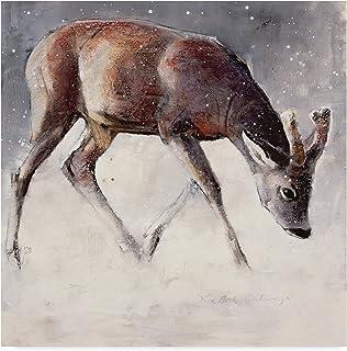 Roe Buck, Winter by Mark Adlington, 14x14-Inch