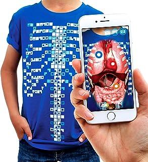 comprar comparacion Camiseta de Realidad Aumentada Educativa Virtuali-tee | Juguete Stem | A Partir de 3 años - M, Azul