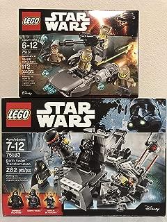 LEGO Stars War Darth Vader Transformation Bundled Resistance Trooper Battle Pack