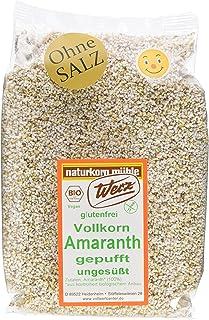 Werz Vollkorn-Amaranth gepufft ungesüßt, glutenfrei,10er Pack