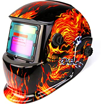 Bibowa Auto Welding Mask Auto Darkening Professional Welding Hood Mask Welding Shield For Tig Mig Arc Weld Grinding Skull