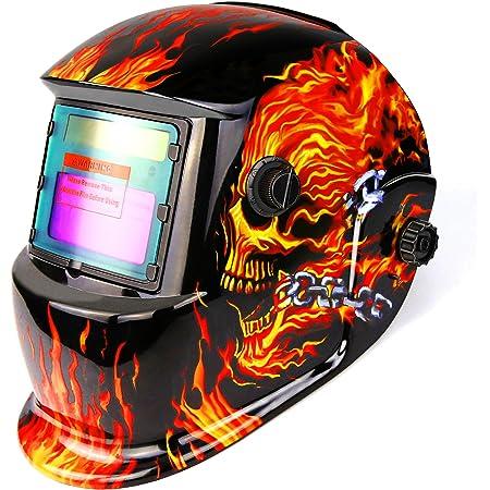 Queiting Welding Helmet Protector Mask Auto Darkening Welders Arc Tig Mig Grinding Solar Powered