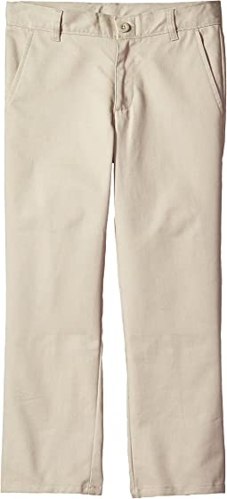 Nautica Kids Husky Flat Front Twill Double Knee Pants (Big Kids)