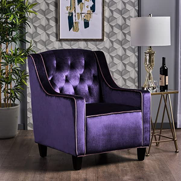 Christopher Knight Home 302071 Giada CKH Arm Chair Plum Lilac Dark Brown