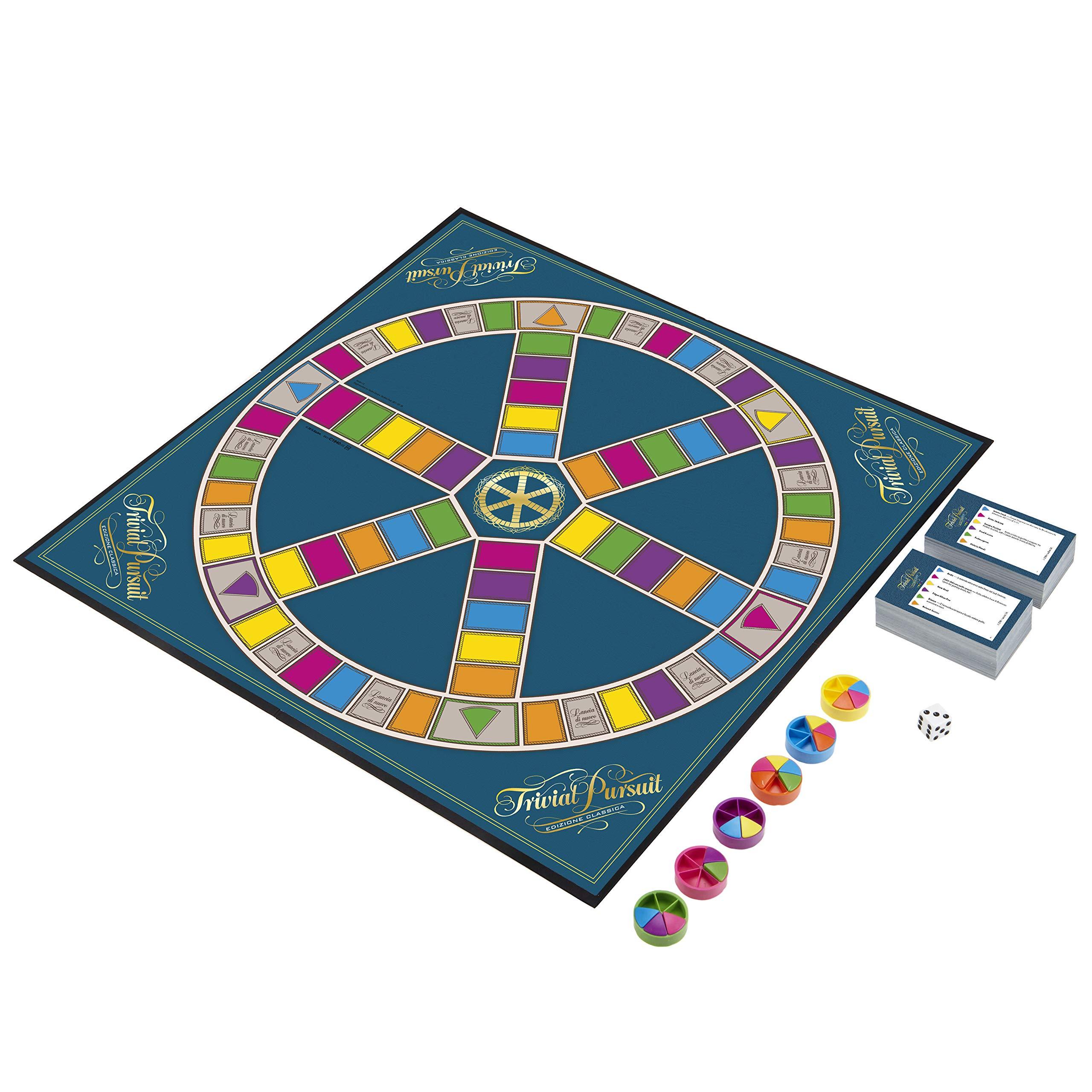 Hasbro Gaming – Trivial Pursuit (juego en caja), 16 años +, 2 – 4 jugadores, C1940103- Idioma italiano: Amazon.es: Juguetes y juegos