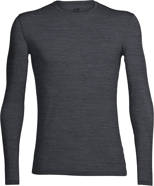 Icebreaker Merino Men's Super popular Max 87% OFF specialty store Anatomica Long Neck S Sleeve Crew Shirt