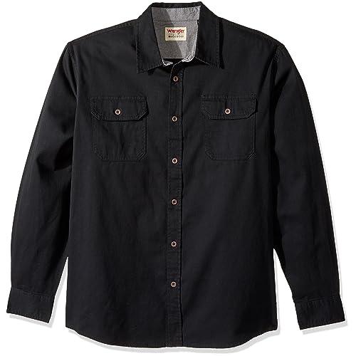 b748f2ab8a8 Wrangler Authentics Men s Long-Sleeve Classic Woven Shirt