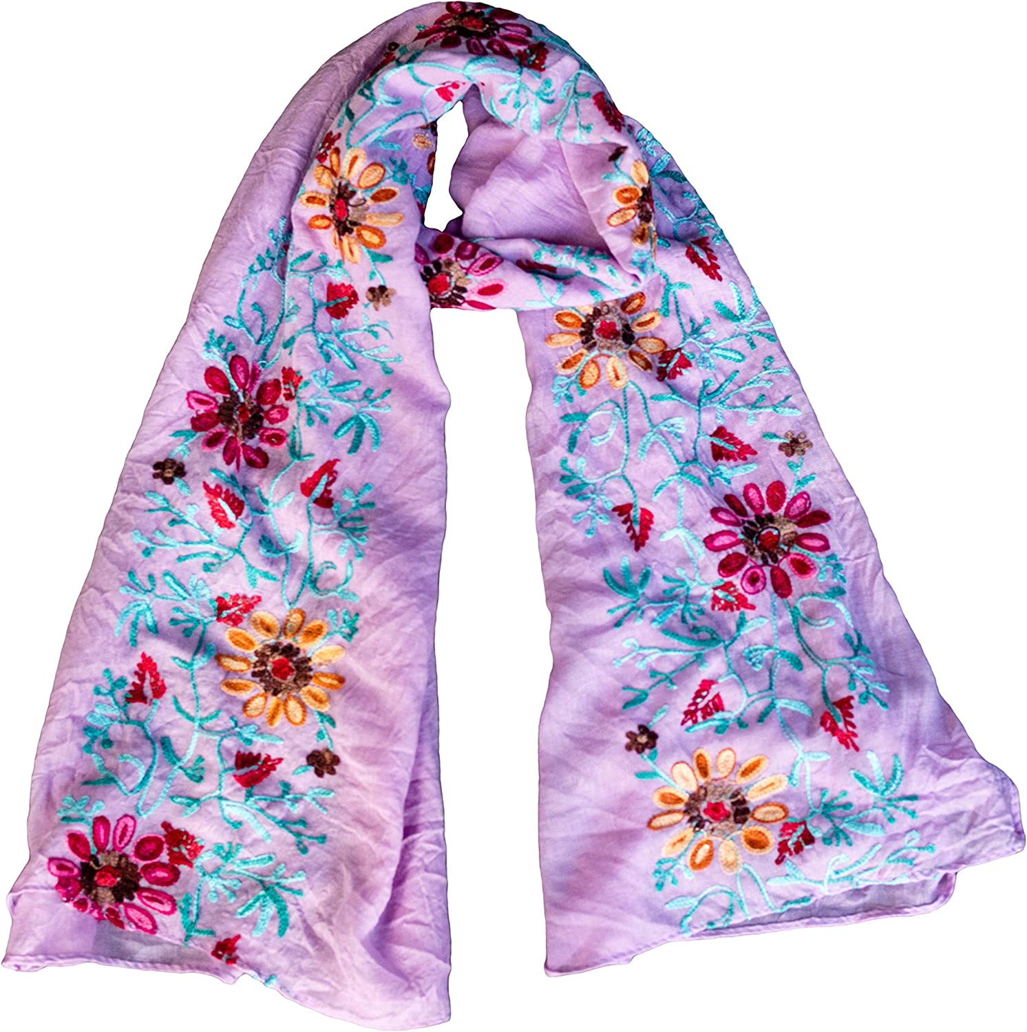 LuluVin Max 40% OFF Women's Max 41% OFF Scarf Cotton Lightweight Wrap Embroidered Shawl